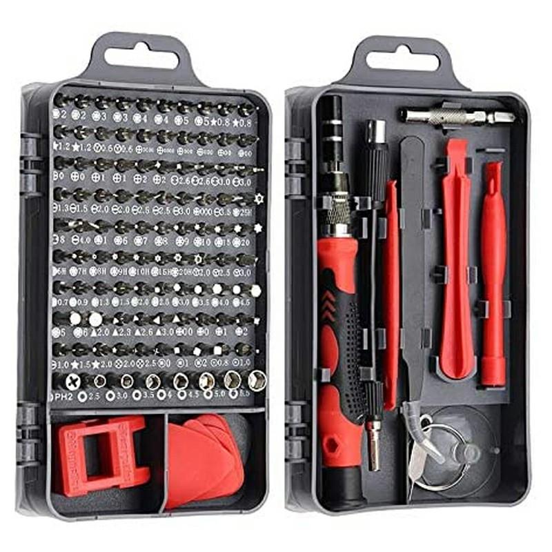 115 in 1 Precision Mechanics Set Torx Bit Repair Tools Kit Precision Screwdriver Set - Red