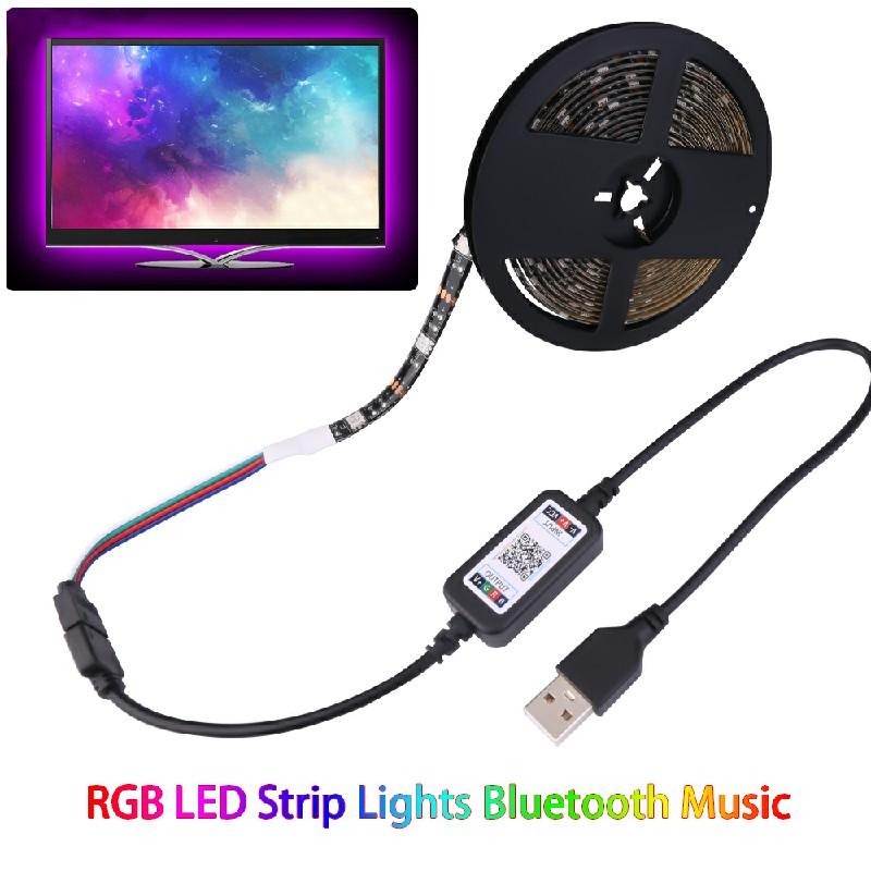 RGB LED Strip Lights Bluetooth Music USB Powered TV Back Lights - 3m