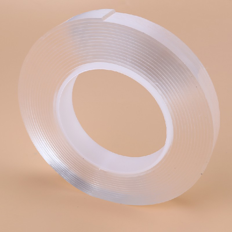 Nano Magic Tape Gel Grip Double Sided Traceless Removable Washable Adhesive Clear - 5m