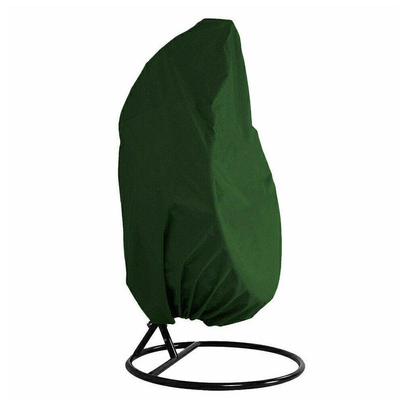 Hanging Swing Egg Chair Cover Garden Patio Rattan Chair Outdoor Rain Protector - Green