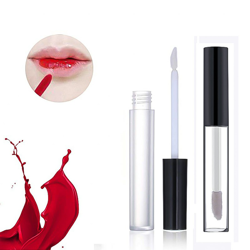 Empty Lip Gloss Containers with Brush Applicator Rubber Stoppers DIY Cosmetic Container - 10ml
