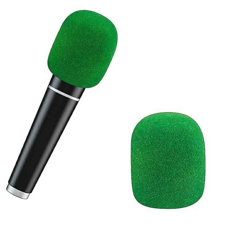 Pro vocalist Microphone Foam Cover Sponge Windshield Mic Shield - Green