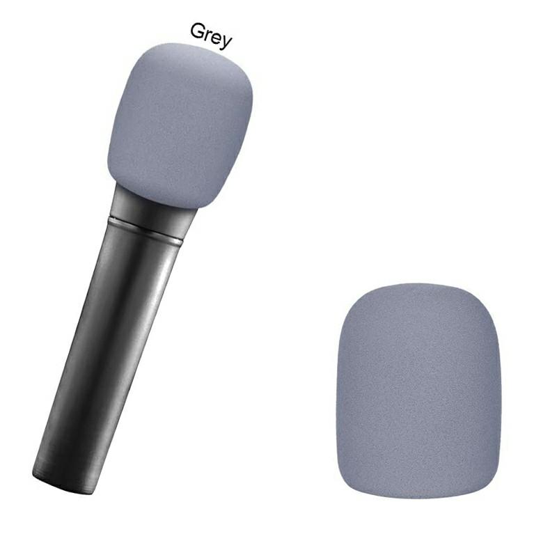 Pro vocalist Microphone Foam Cover Sponge Windshield Mic Shield - Grey