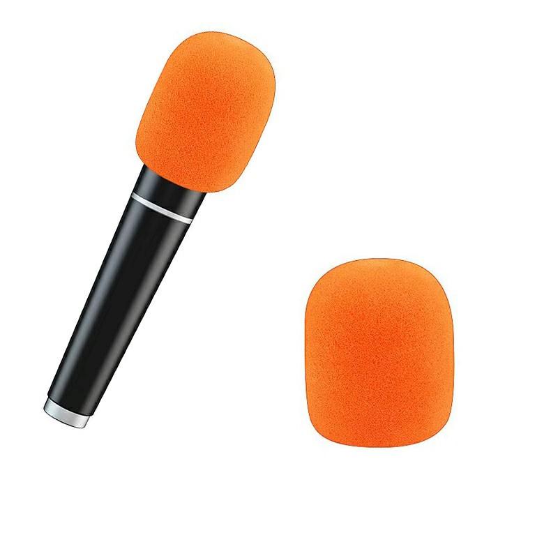 Pro vocalist Microphone Foam Cover Sponge Windshield Mic Shield - Orange