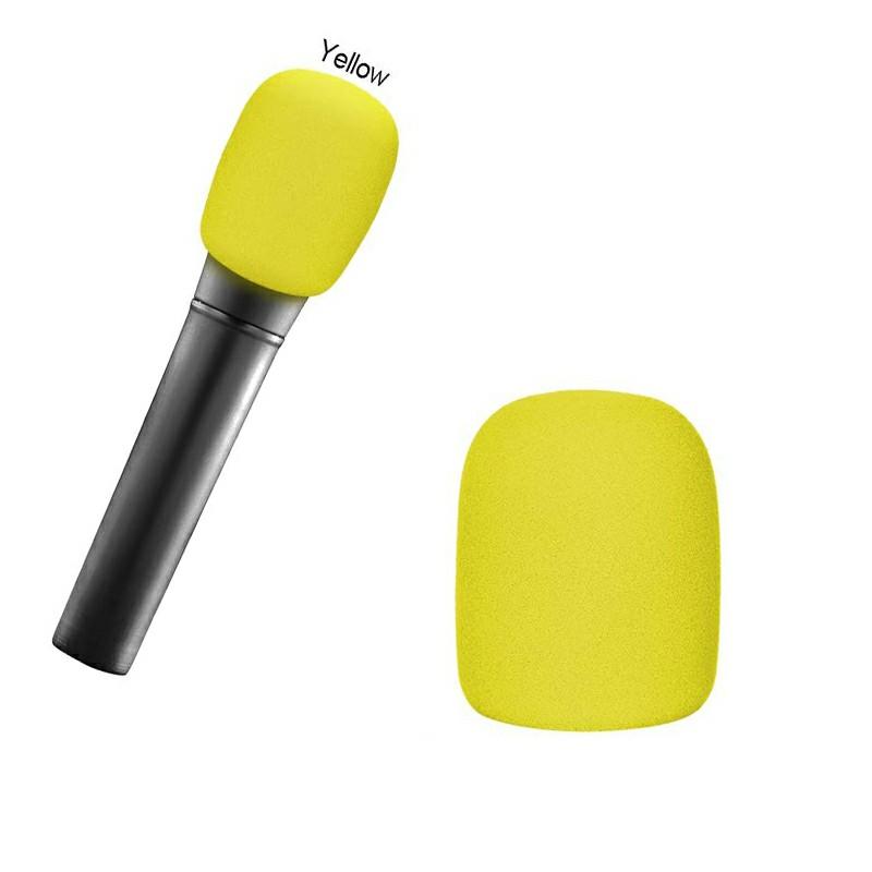 Pro vocalist Microphone Foam Cover Sponge Windshield Mic Shield - Yellow