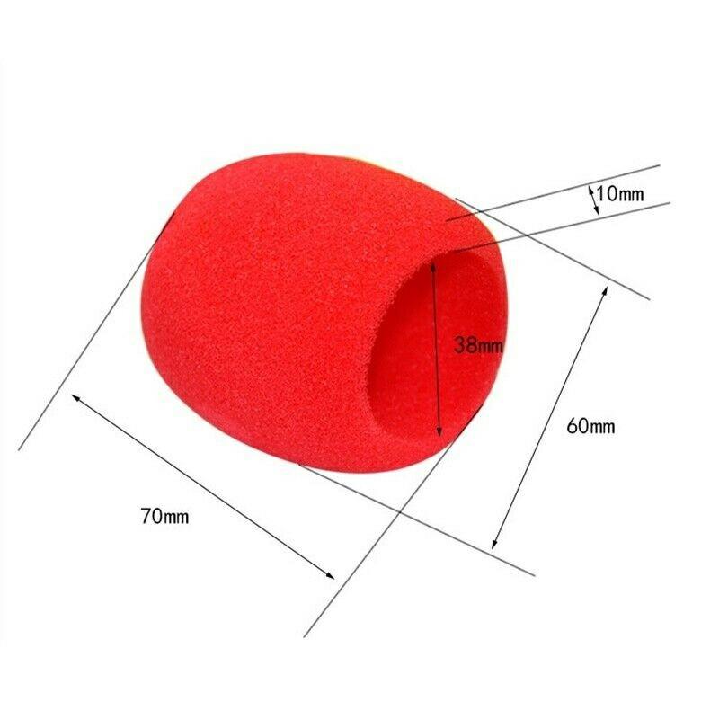 Pro vocalist Microphone Foam Cover Sponge Windshield Mic Shield - Red