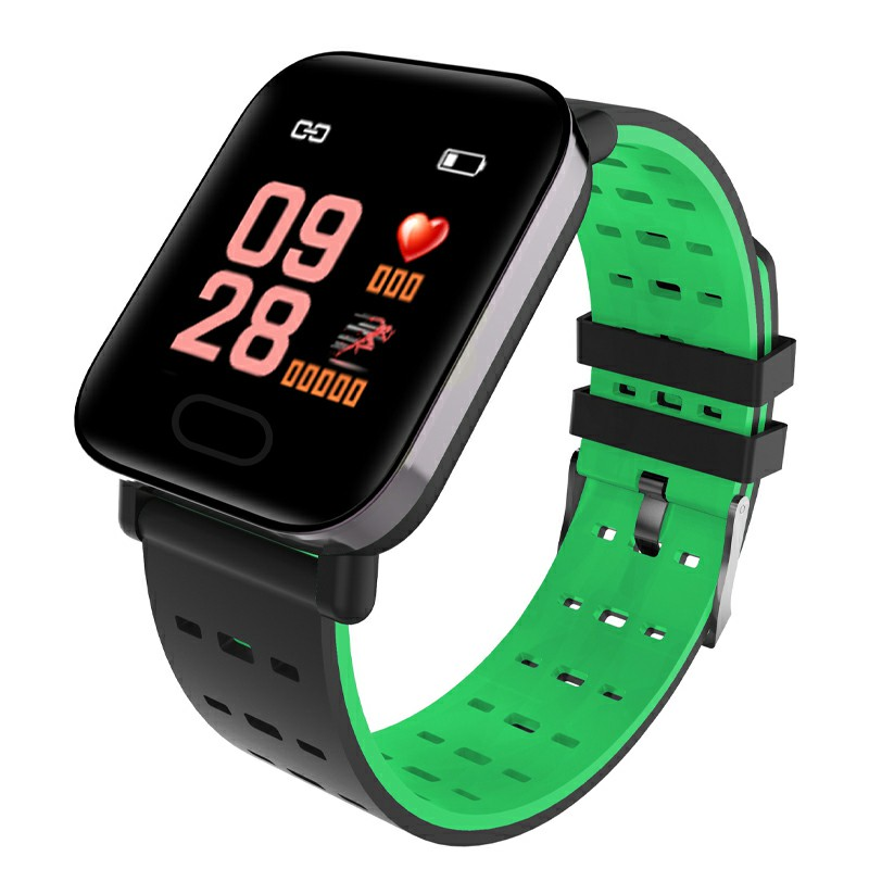 A6 Color Screen Smart Bracelet New Ip67 Waterproof Bluetooth Smart Watch - Green