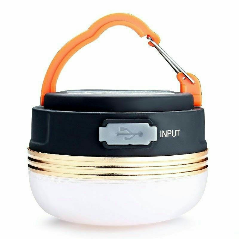 LED Camping Light USB Rechargeable Lantern Night Light Portable Tent Lamp 3 Mode