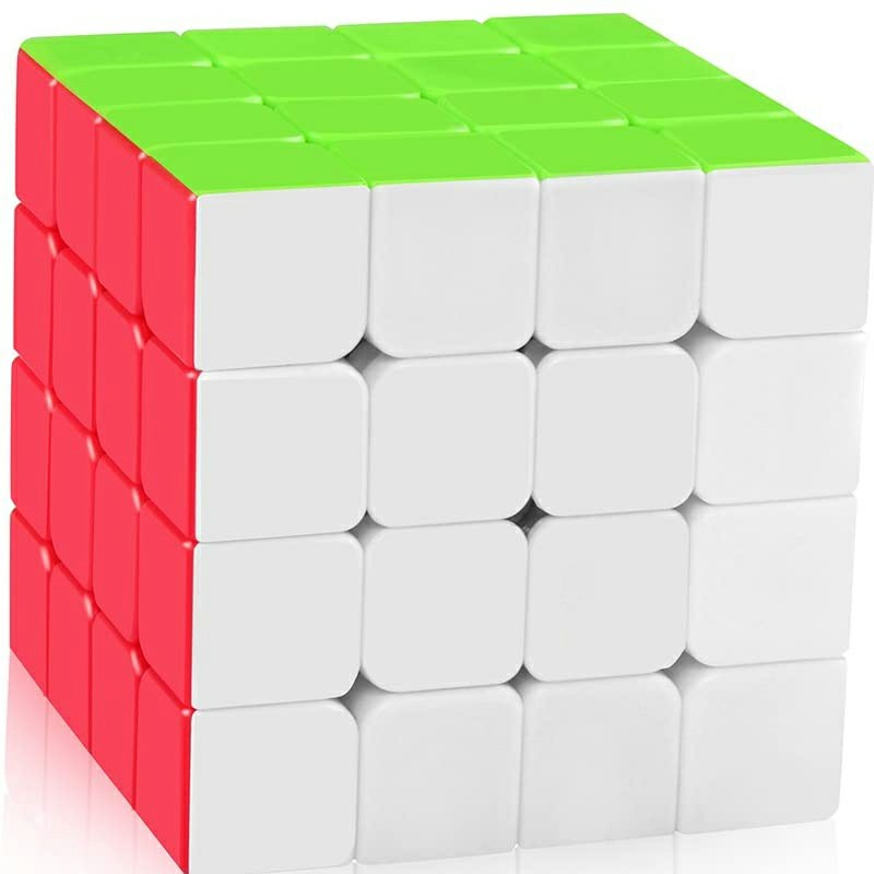 4x4 Speed Cube Magic Cube 4x4x4 Puzzle Toys for Kids - White