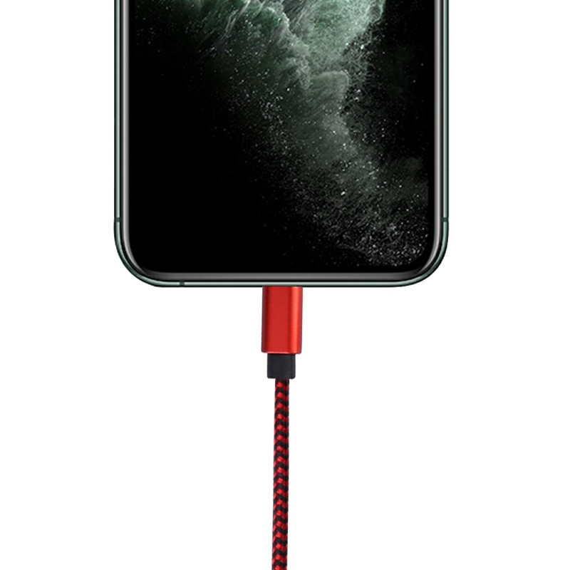 3M Fabric Braided Type C Android Charger Cable - Red