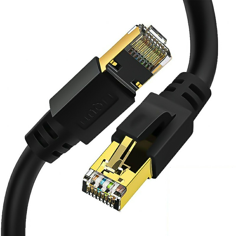 RJ45 Network Patch Cord Cat8 LAN Cable 2000Mhz 40Gbps Suitable for Router Mac Laptop - 25FT
