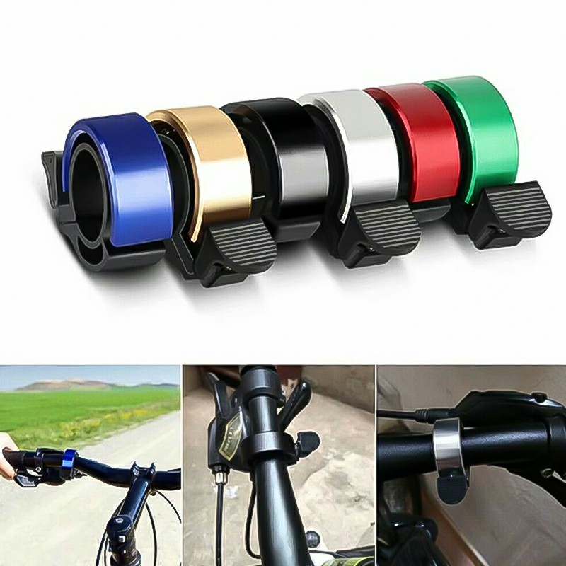 Bicycle Bell Aluminum Alloy Bike Alarm Handlebar Cycling Ring Loud - Blue