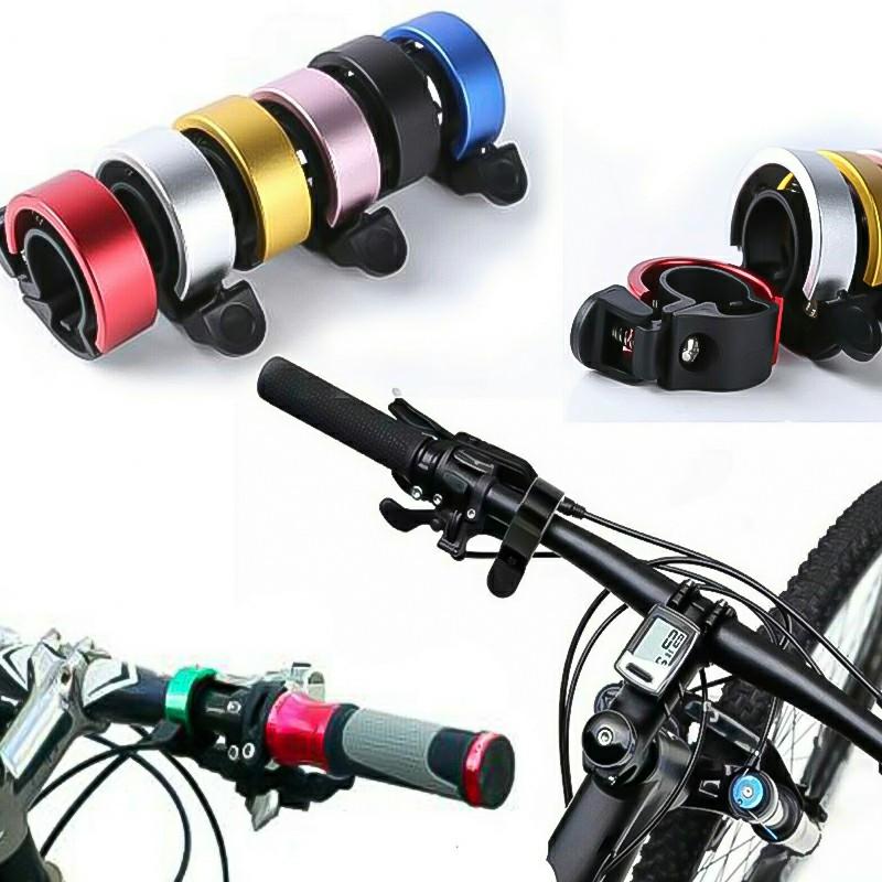 Bicycle Bell Aluminum Alloy Bike Alarm Handlebar Cycling Ring Loud - Black