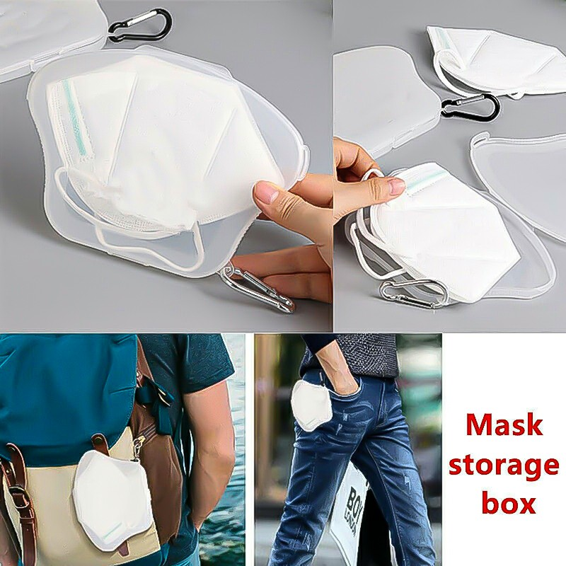 Portable Face Mask Case Storage Box Travel Organizer Face Mask Protective Holder