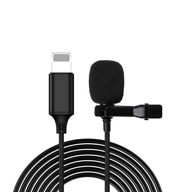 8pin Interface 8pin Lavalier Microphone for iPhone Cellphone