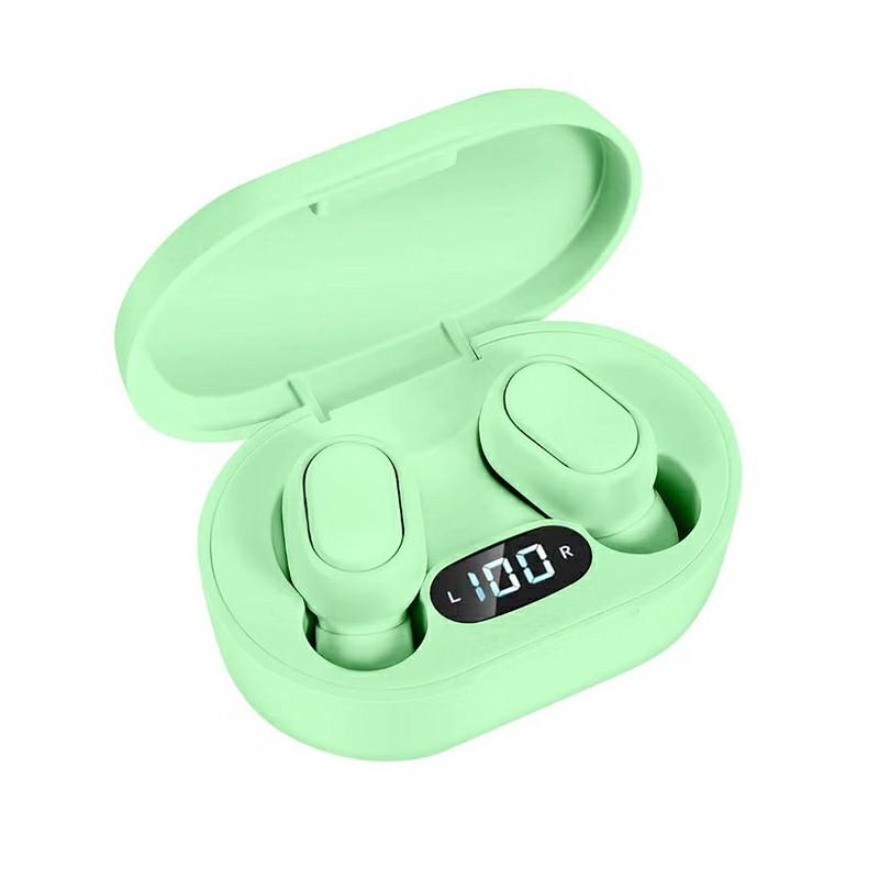 E7S TWS Wireless V5.0 Bluetooth Earphones Mini Stereo Earbuds Macaron Colour - Green