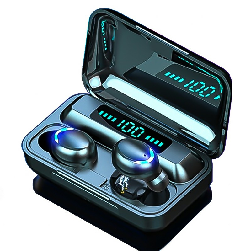 F9-8 TWS Bluetooth 5.0 Headphones Charge Display Premium Wireless Headset