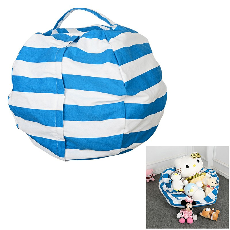 23 inch Extra Large Stuffed Animal Toy Storage Bean Bag Bean Cover Organizer Seat Bag - Blue