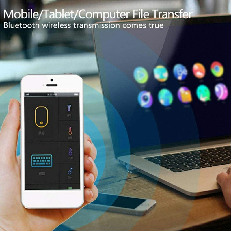 USB Bluetooth 5.0 Adapter for PC Win 10/8.1/8/7/XP/Vista with CD - Semicircle