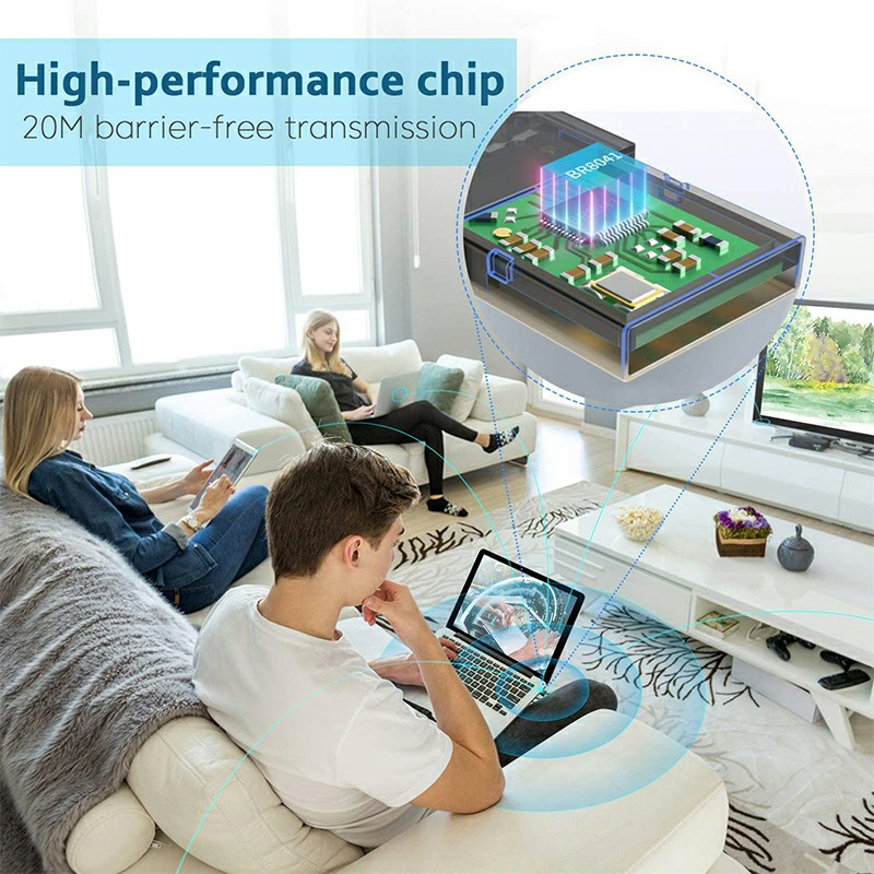 USB Bluetooth 5.0 Adapter for PC Win 10/8.1/8/7/XP/Vista with CD - Square