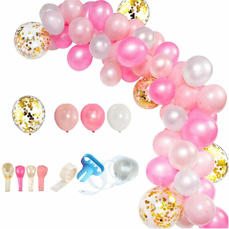 Balloon Arch Kit Set Birthday Wedding Baby Shower Garland Party Decoration - Pink