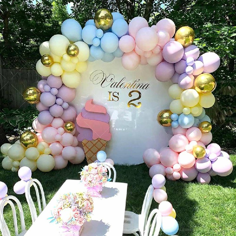 Latex Balloons Arch Kit Chrome Macaron Balloon Wedding Birthday Party Garland Decor