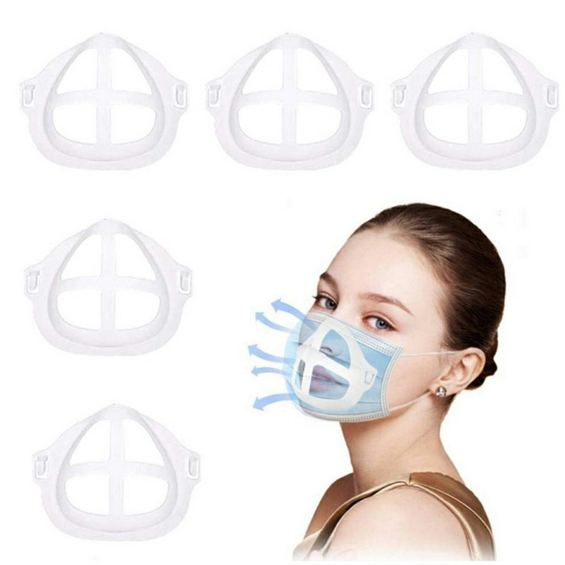 5x 3D Face Masks Bracket Mouth Separate Inner Stand Holder Creat More Breathing Space