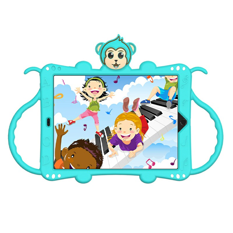 Heavy Duty Rugged PC Silicone Cartoon Case for Apple iPad air 3 10.5/10.2 - Aqua