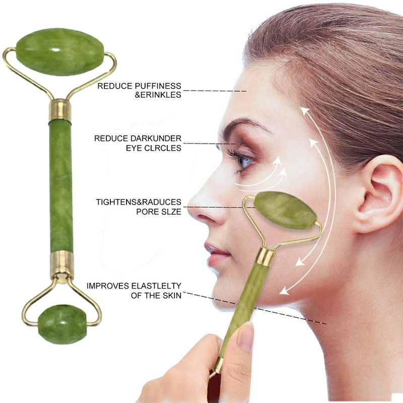 Jade Roller with Gua Sha Scraper for Face Beauty Roller to Improve the Appearance of your Skin