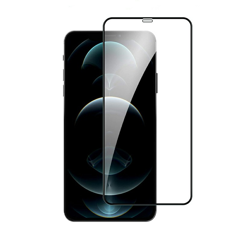 9D Full Cover Screen Protector Tempered Glass Black Edge for iPhone 12 Pro