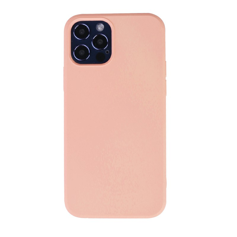 Liquid Silicone Gel Rubber Shockproof Cover Back Case for iPhone 12 Pro - Orange