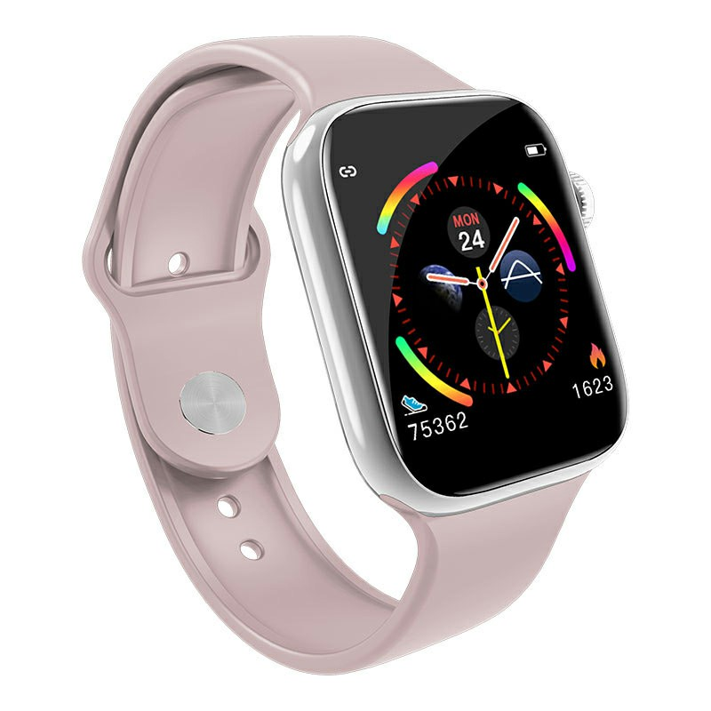W4 Waterproof Smart Watch Heart Rate Blood Pressure Fitness Tracker for iOS Android - Pink
