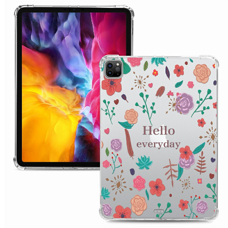 Soft TPU Painted Protective Back Cover Snap-on Case for iPad Pro 12.9 inch - Hello Every Day
