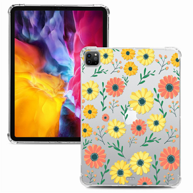 Soft TPU Painted Protective Back Cover Snap-on Case for iPad Pro 12.9 inch - Daisy