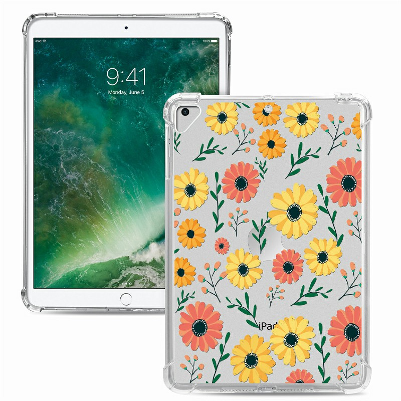 Soft TPU Painted Protective Back Cover Snap-on Case for iPad 9.7 inch - Daisy