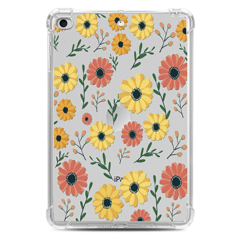 Soft TPU Painted Protective Back Cover Snap-on Case for iPad Mini 1/2/3/4/5 - Daisy