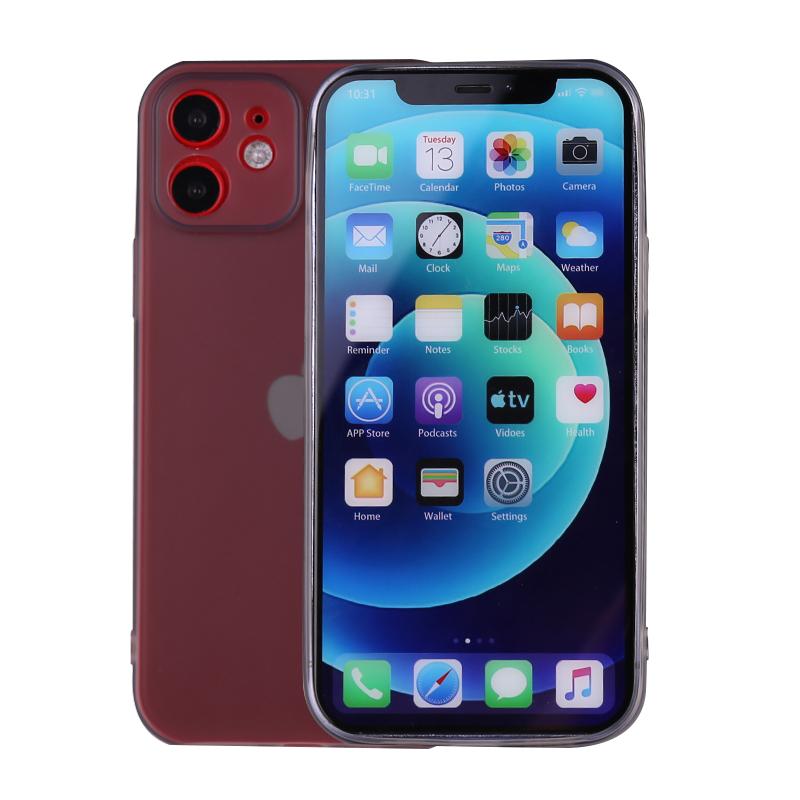 Slim Silicone TPU Case Protective Bace Cover for iPhone 12 Mini - Black