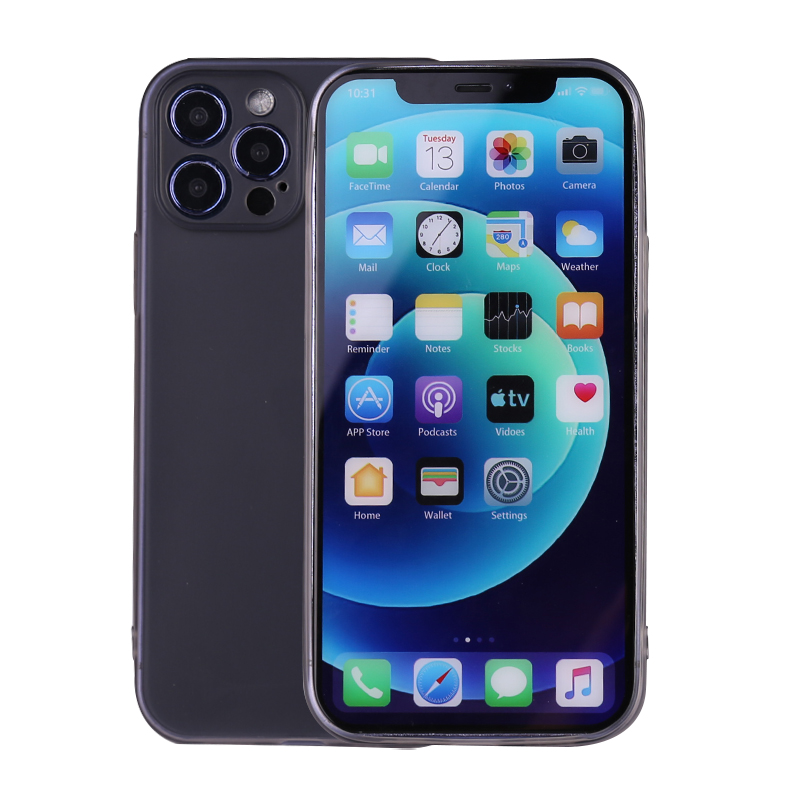 Slim Silicone TPU Case Protective Bace Cover for iPhone 12 Pro Max - Black