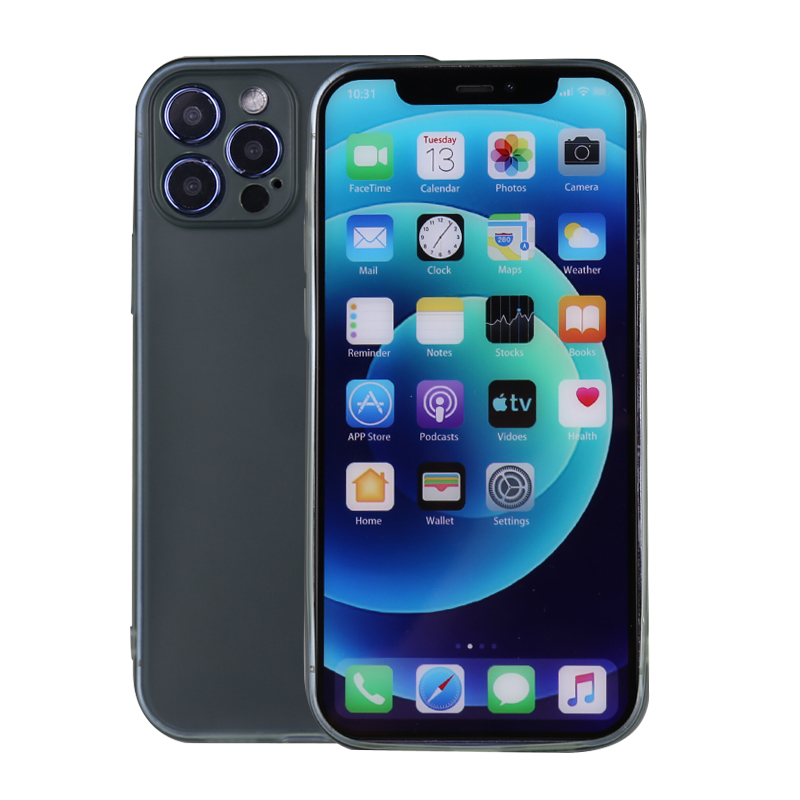 Slim Silicone TPU Case Protective Bace Cover for iPhone 12 Pro Max - Green