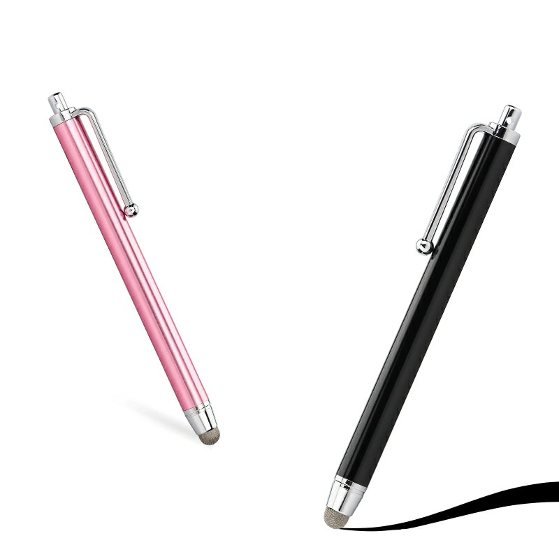 Ultra Smooth High Sensitive Fibre Tip Stylus Pen for All Mobile Phones Tablet iPad - Black
