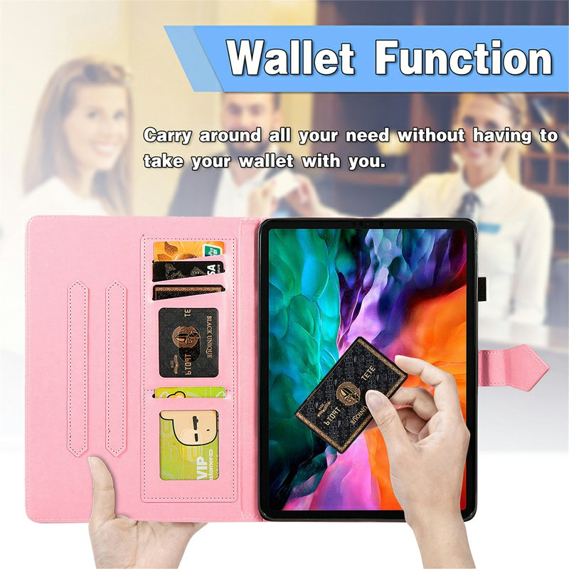 PU Leather Folio Stand Cover Case for iPad air 10.9 inch - Pink
