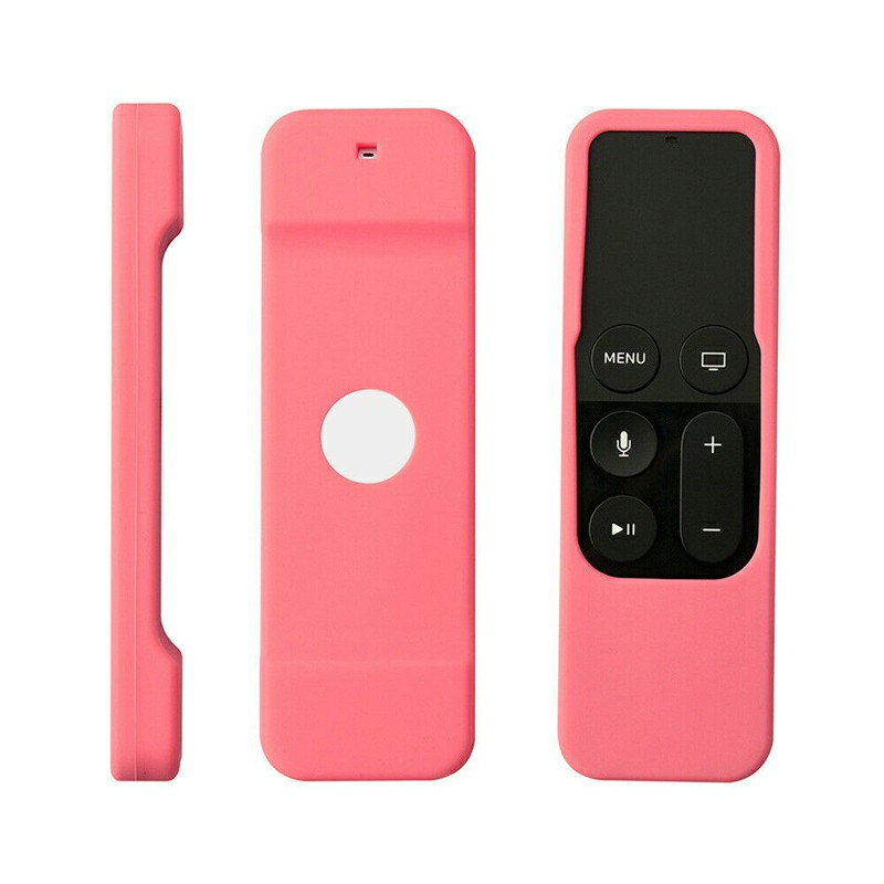 Remote Case Anti-Slip Silicone Cover Protector Skin for Apple TV 4th Generation - Pink
