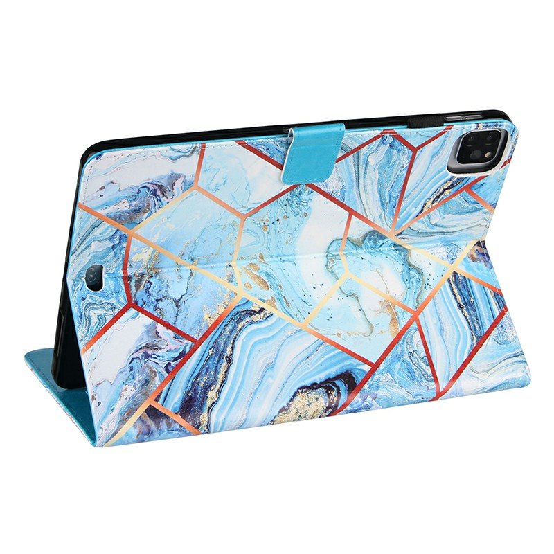PU Leather Folio Stand Cover Case for iPad Pro 11 inch 2020 2018 and iPad Air 4 10.9 2020 - Blue