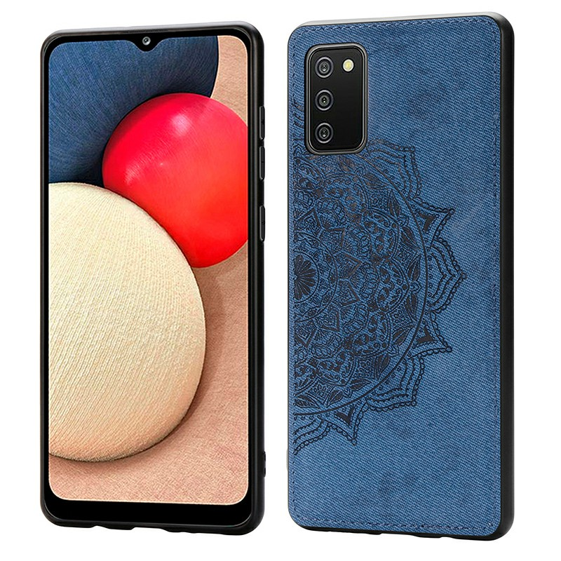 Soft Edge TPU and Hard PC Back Case for Samsung Galaxy A02S - Blue