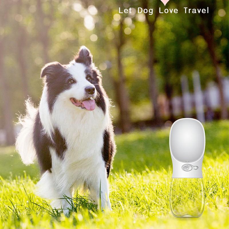 350ml Portable PET Dogs Cats Water Bottle Lightweight Feeder - White