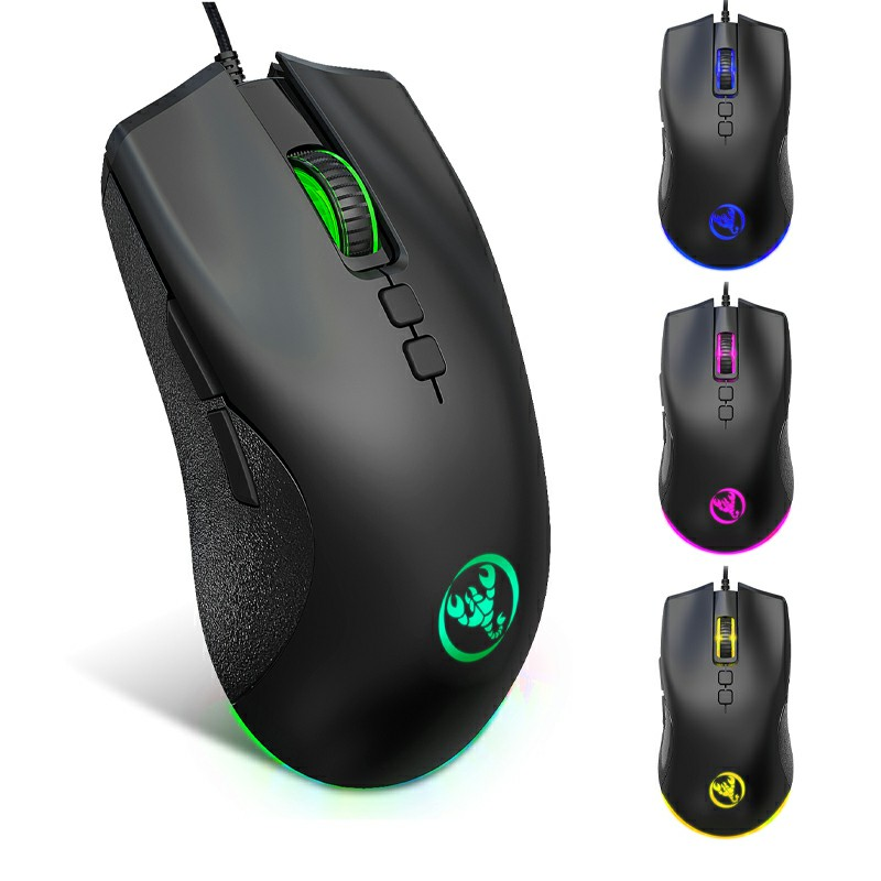 A883 6400 dpi RGB Lighting Programmable Wired Gaming Mouse