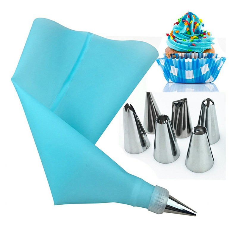 6 Piece Icing Piping Nozzle Tool Set Kit Box Cake Cupcake Sugarcraft Decorating