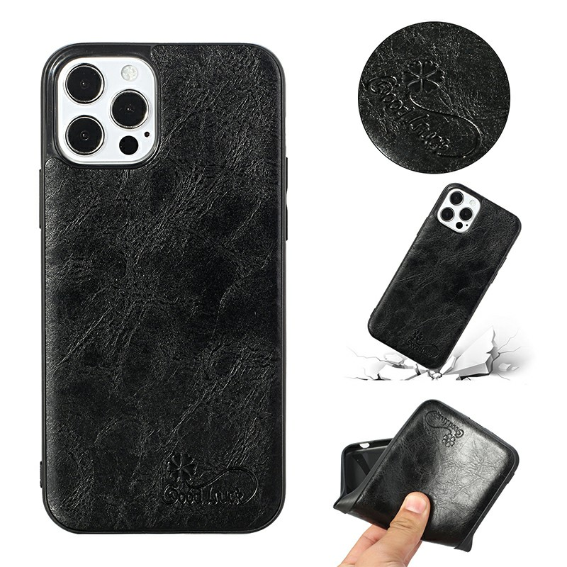 Slim and Soft Silicone PU Cover Protective Back Case for iPhone 12 Pro Max - Black