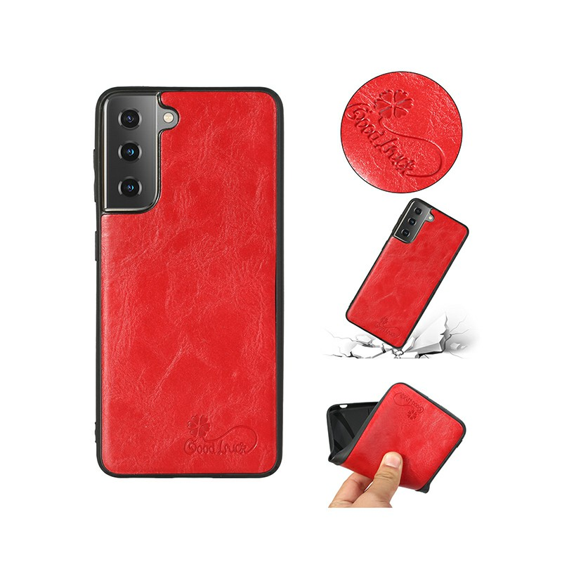 Slim Silicone TPU Protective Case for Samsung Galaxy S21 - Red