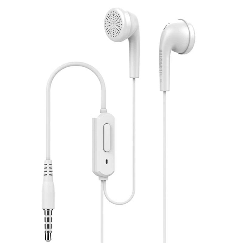 35mm Wired In Ear Earphones with Build-in Microphone - White